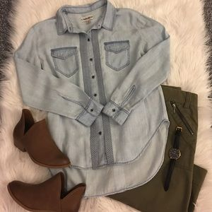 Chambray top (light wash)!